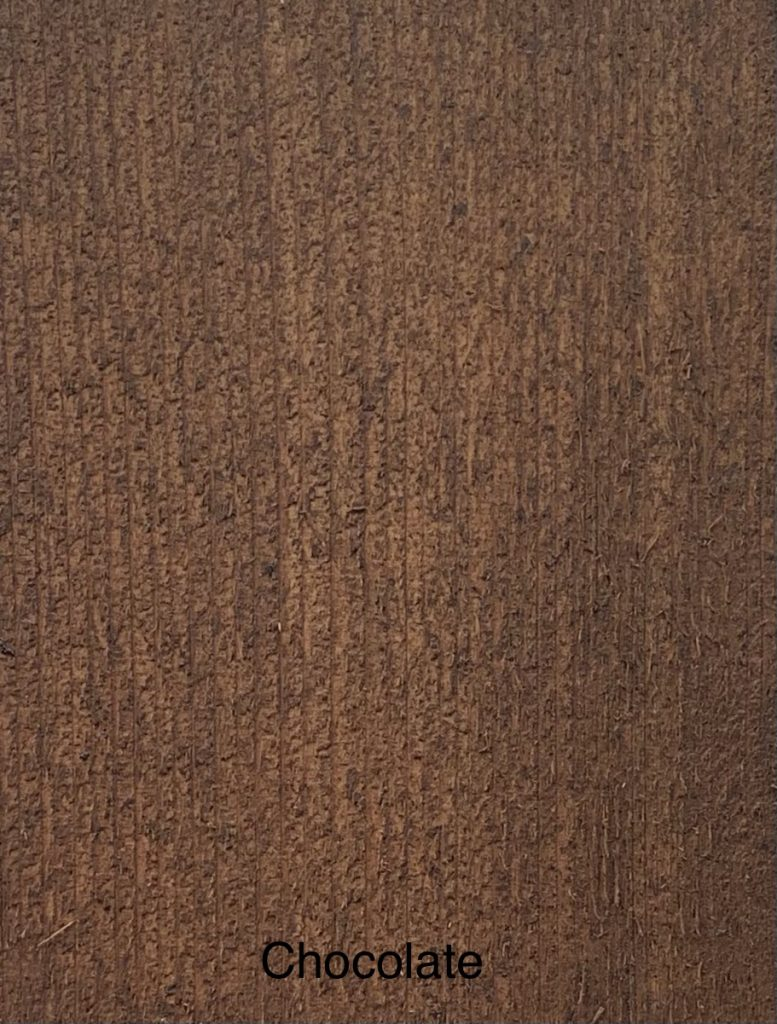 Chocolate Fence Stain Sample