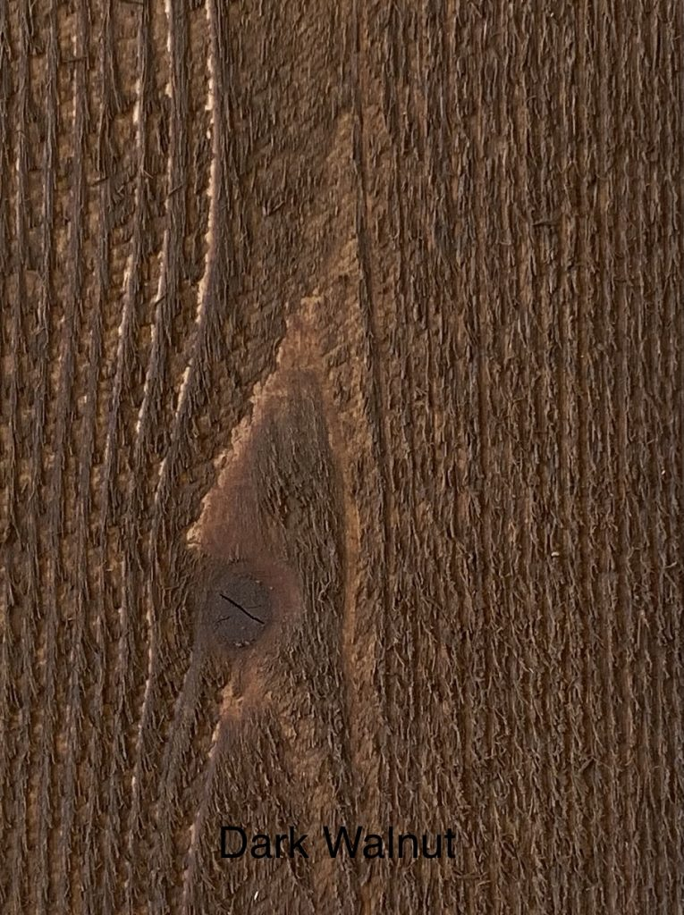 Dark Walnut Fence Stain Sample