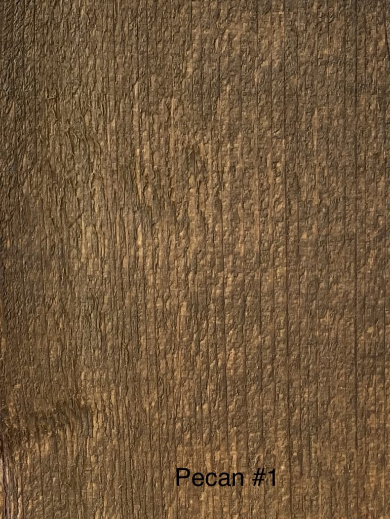 Pecan Fence Stain Sample