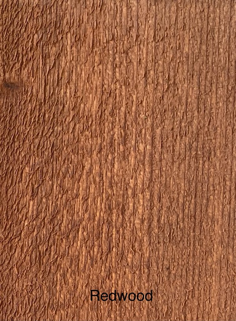 Redwood Fence Stain Sample
