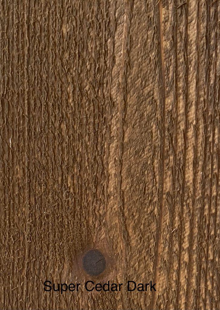 Super Cedar Dark Fence Stain Sample