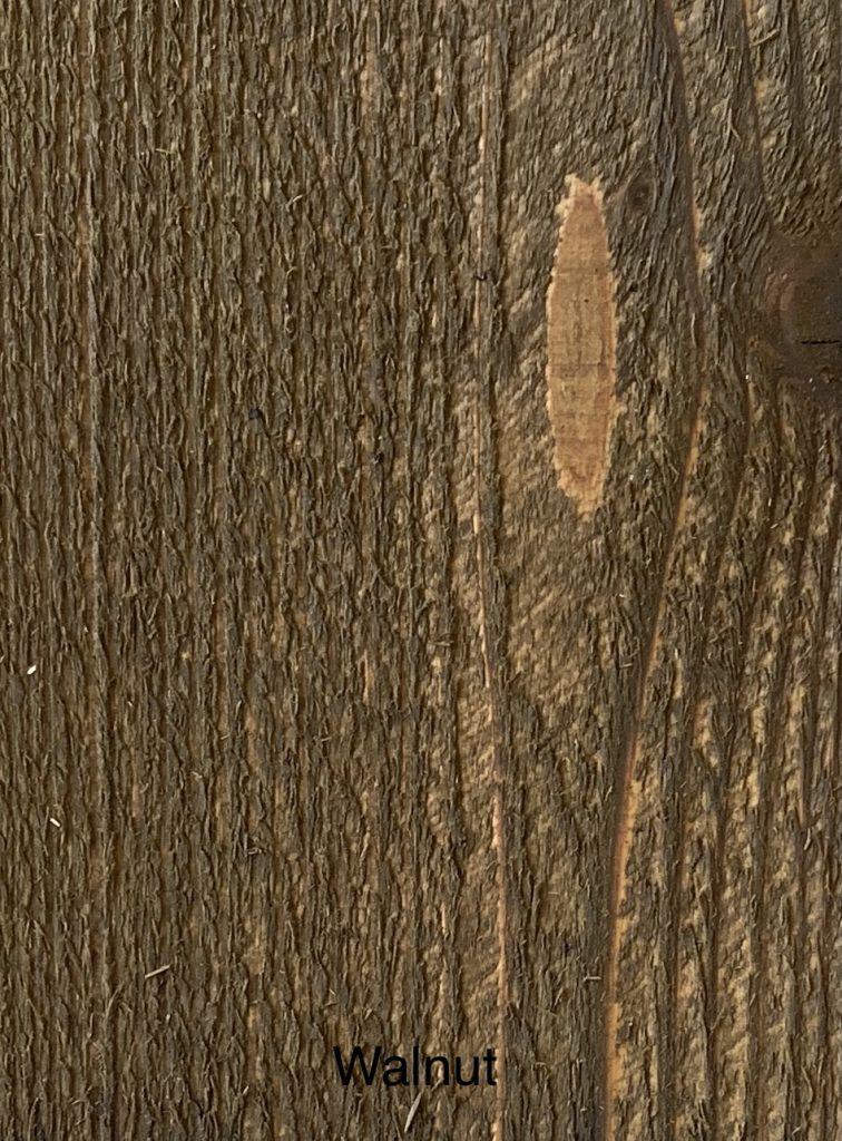 Walnut Fence Stain Sample